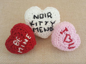 Conversation Hearts Cat Toys