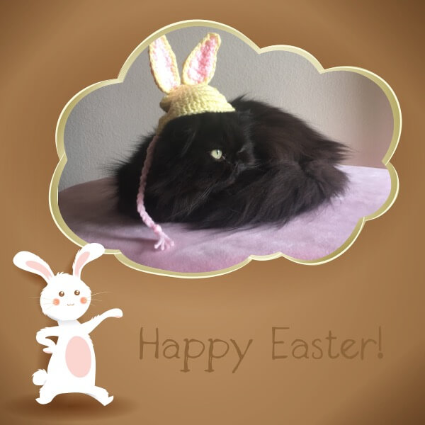 Valentine Says Happy Easter