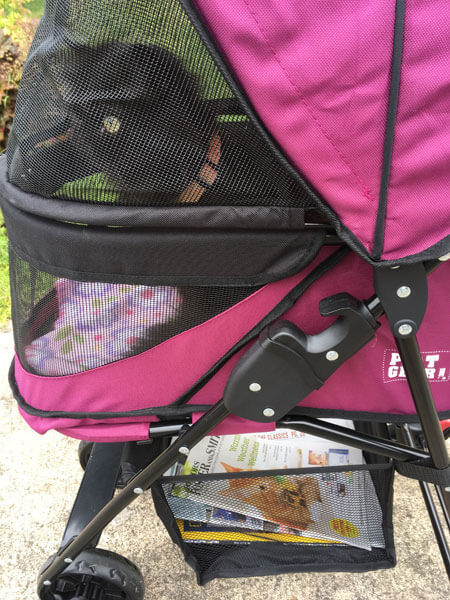 Basket in Happy Trails Lite No Zip Pet Stroller