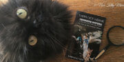 Valentine Cat with Sherlock Herms book